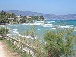 De zee bij Ammoudi op Zakynthos, Griekenland