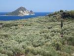 Schildpadeiland Marthonisi bij Zakynthos, Griekenland