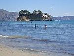 Het eiland Agios Sostis op Zakynthos, Griekenland