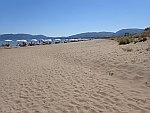 Het Laganas strand op Zakynthos, Griekenland
