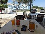 Koude drankjes in Ammoudia, Griekenland