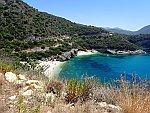 Het grote en kleine Drafti strand, Griekenland