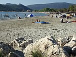Het strand van Ammoudia, Griekenland