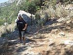 Teije dubt of hij gaat klimmen bij Zalongo, Griekenland
