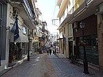 Winkelstraat in Parmythia, Griekenland