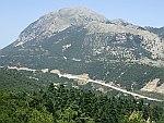 Uitzicht op de snelweg tussen Igoumenitsa en Ioannina, Griekenland