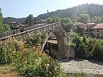 De boogbrug in Vovousa, Griekenland