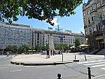 Het Terazije plein in Belgrado, Servie