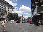 Voetgangersgebied in Belgrado, Servie
