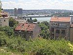 De Donau vanuit het Kalemegdan park, Belgrado, Servie