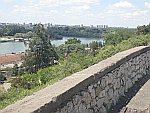 De Sava en Donau vanuit het Kalemegdan park,Belgrado, Servie
