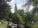 De Saborna kerk vanuit het Kalemegdan park, Belgrado, Servie