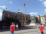 Prins Mihailo Monument in Belgrado, Servie