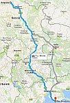 De route van dag Belgrado naar Griekenland, Griekenland
