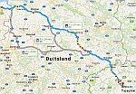 De route van dag 1, naar Tsjechië, Servie