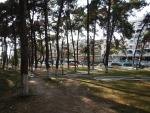 Park langs de kust in nea Kallikrateia, Griekenland