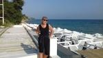 Langs de kust in Nea Kallikrateia, Griekenland