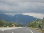 Donkere wolken boven de Ossa-bergen, Griekenland