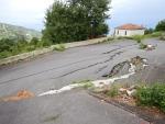 Aardbevingschade, Mouresi, Griekenland