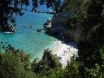 Strand bij Mylopotamos, Griekenland