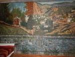 Wandschildering, Kontos House of Theofilos Museum, Griekenland
