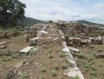 Oude stadsmuur in de buurt van Amaliapolis, Griekenland