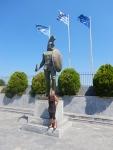 Standbeeld van Leonidas, Sparta, Griekenland
