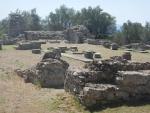 Resten van een kerk in het oude Sparta, Griekenland