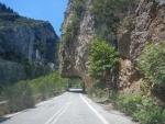 De bergweg van Sparta naar Kalamata, Griekenland