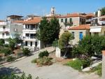 Het dorp Zacharo, Griekenland
