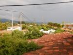 Uitzicht vanuit ons appartement, Zacharo, Griekenland
