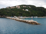 De haven van Poros, Griekenland