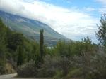De Ainos berg op Kefalonië in wolken gehuld, Griekenland