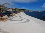 De boulevard van Argostoli, hoofdstad van Argostoli, Griekenland