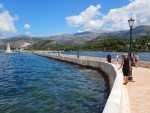 De pier van Argostoli, Griekenland