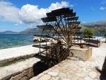 Het waterrad van Katavothres, Griekenland