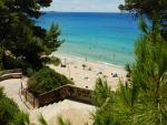 Makris Gialos strand, Griekenland