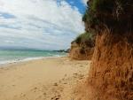Megali Ammos strand bij het vliegveld van Kefalonië, Griekenland