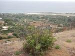 Uitzicht op het vliegveld van Kefalonië, Griekenland