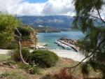De haven van Pessada, Kefalonië, Griekenland