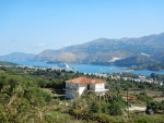 Cruiseschip in de baai van Argostoli, Griekenland