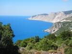 De kust bij het klooster Kipoureon, Kefalonië, Griekenland