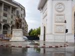 Standbeeld Hristo Tatarchev, Skopje, Macedonie