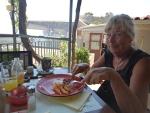 Lekker eten in Mazakarata, Griekenland