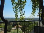 Uitzicht van het terras in Mazakarata, Griekenland