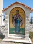 Bij het klooster van Moeder van God van Themata, Pilaros, Griekenland