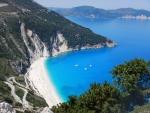 Myrtos strand, Kefalonië, Griekenland