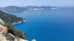 De kust rondom Myrtos strand, Kefalonië, Griekenland