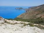 Zicht op Assos en Frourio, Kefalonië, Griekenland