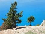De kleuren lijken wel onecht, zo intens blauw, Kefalonië, Griekenland